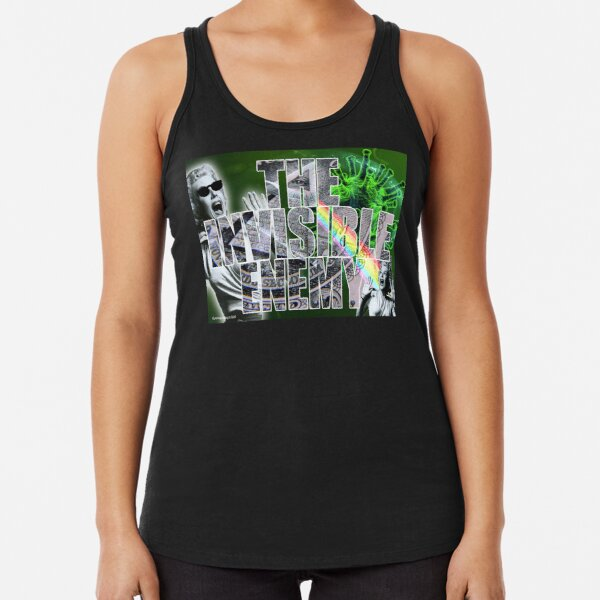 The Invisible Enemy Racerback Tank Top