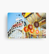 Coney Island Astroland and Cyclone: Brooklyn, NYC Metal Print