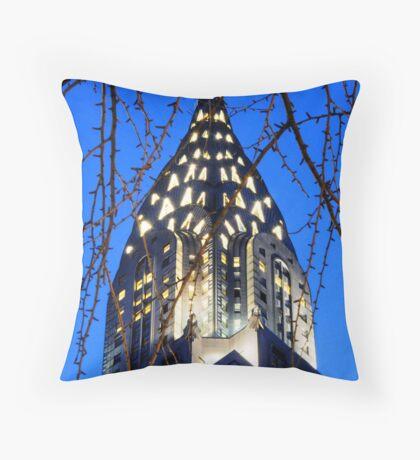 Chrysler Building: NYC Throw Pillow
