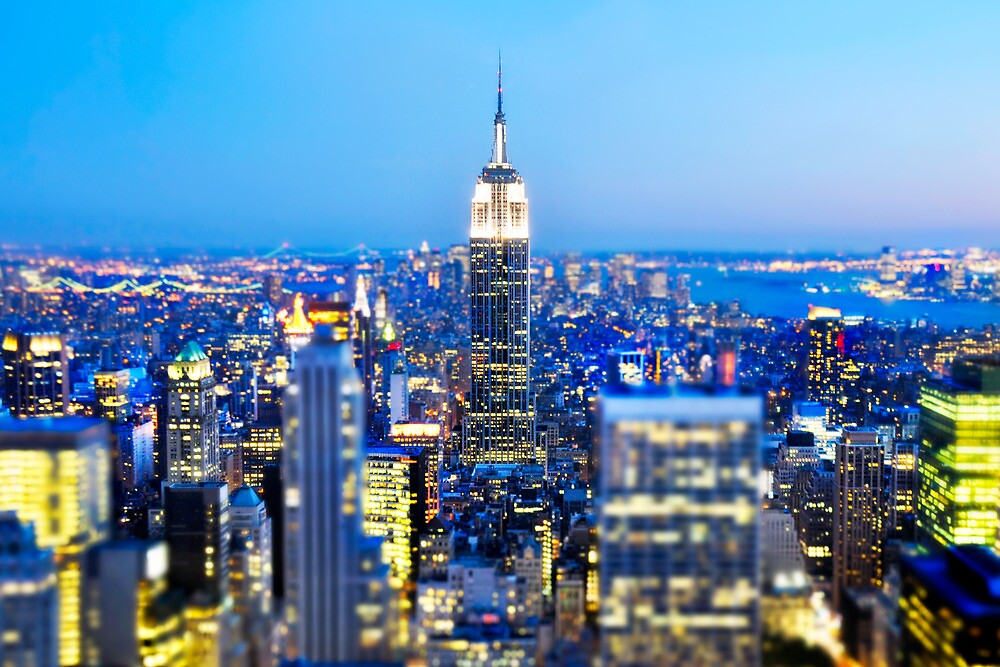 Quot Empire State Building At Night Nyc Quot By Brotherbrain