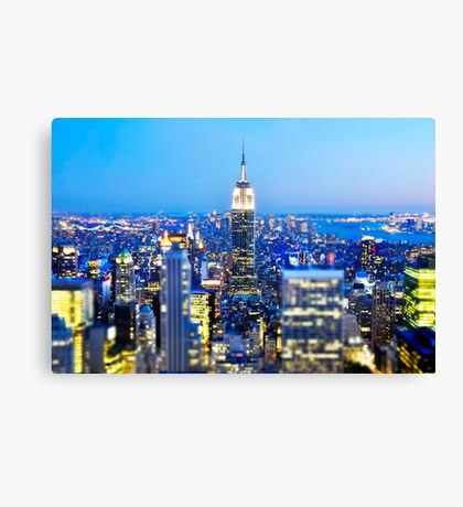 Empire State Building at Night: NYC Canvas Print