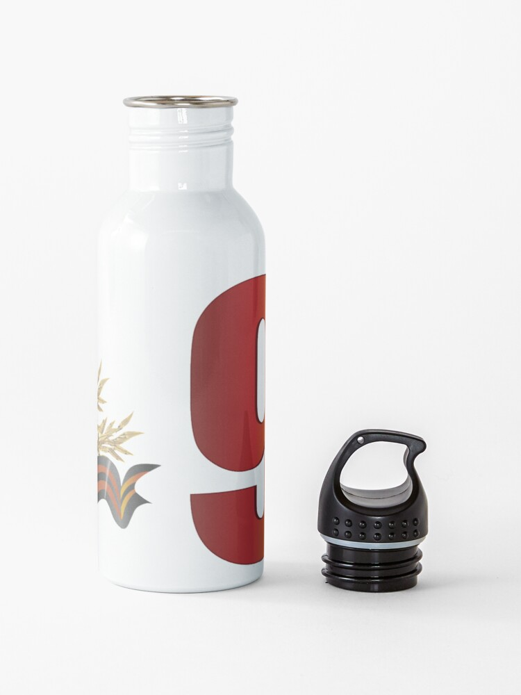 Alternate view of #9мая, #VictoryDay,  is a holiday that commemorates the #victory of the Soviet Union over Nazi Germany in the Great Patriotic War Water Bottle