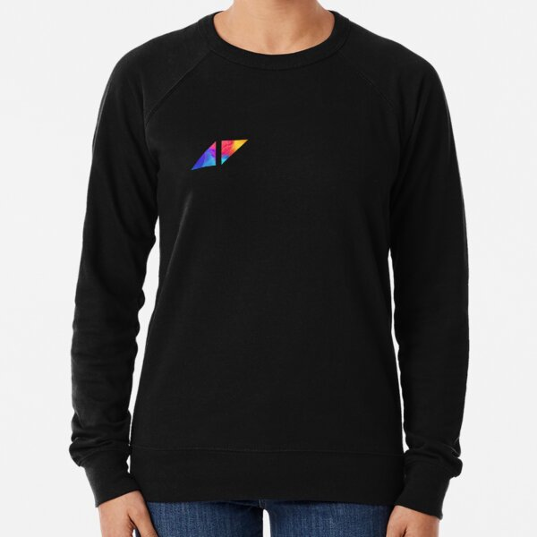 avicii logo only colorful small size  Lightweight Sweatshirt