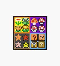 Mario Power-Up Evolution Art Board