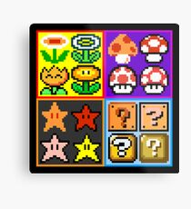 Mario Power-Up Evolution Metal Print