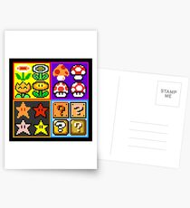 Mario Power-Up Evolution Postcards
