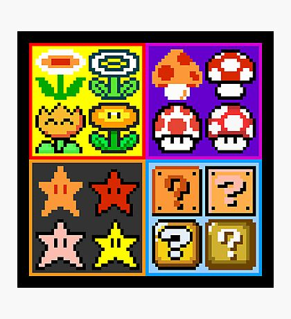 Mario Power-Up Evolution Photographic Print