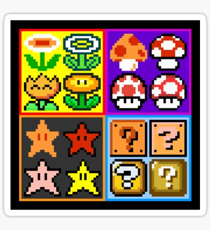 Mario Power-Up Evolution Sticker