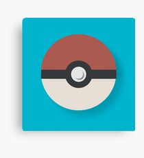 Simple Pokeball Canvas Print
