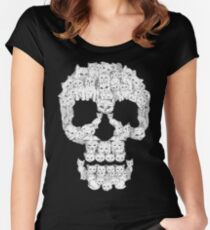 Skulls are for Pussies Women's Fitted Scoop T-Shirt