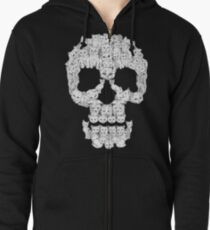 Skulls are for Pussies Zipped Hoodie