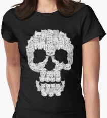 Skulls are for Pussies Women's Fitted T-Shirt