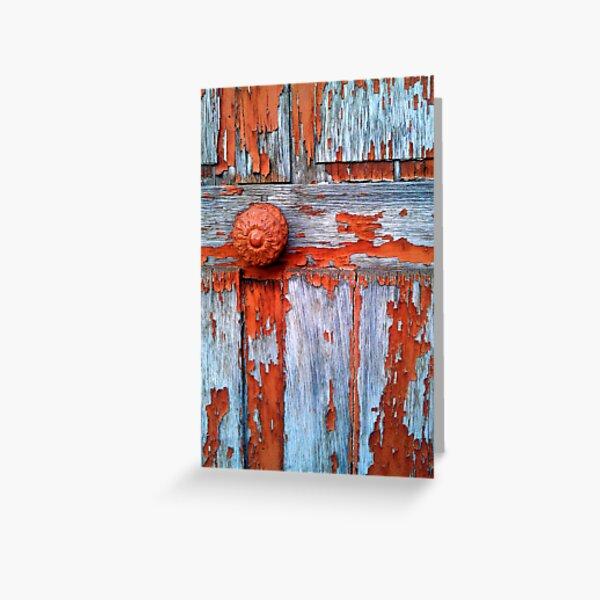Wood door Greeting Card