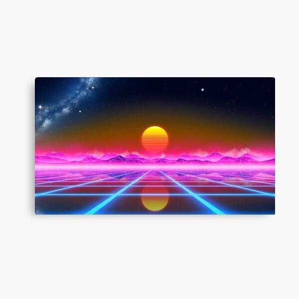 Paysage Synthwave Impression sur toile