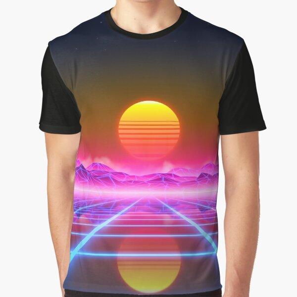 Synthwave landscape Graphic T-Shirt