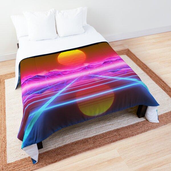 Synthwave landscape Comforter