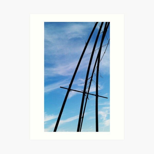 To the sky Art Print