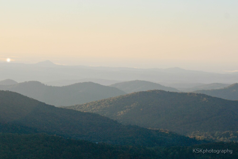 Sunrise over Blueridge  Mountain City Georgia  by KSKphotography