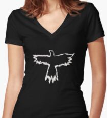 The Crow - Flames Women's Fitted V-Neck T-Shirt