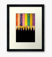Pencil Fizz Framed Print