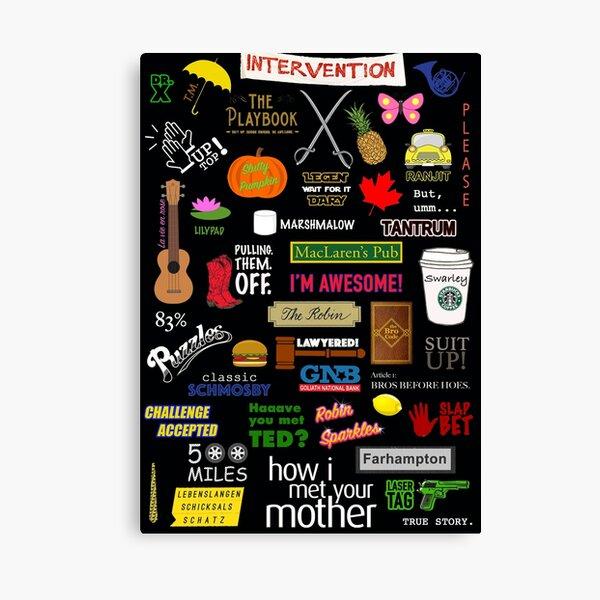 Cómo conocí a vuestra madre | HIMYM | Programa de televisión | Collage Lienzo