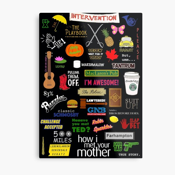 How I Met Your Mother | HIMYM | TV Show | Collage Metal Print