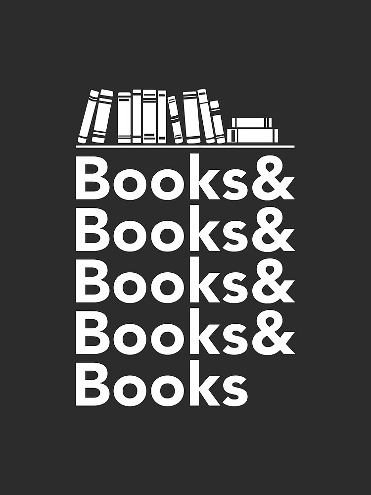 Books | Literary Book Nerd Helvetica Typography by BootsBoots