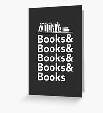 Books | Literary Book Nerd Helvetica Typography Greeting Card