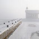 Chapel in fog by Ulf Bjolin