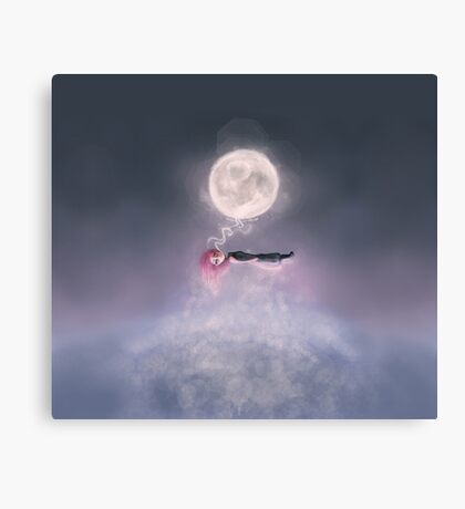 Moonsende / Back to Home Canvas Print