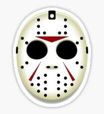 Jason Mask Halloween Sticker
