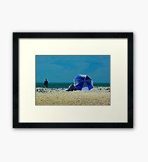 Beach Umbrella with Filter Framed Print
