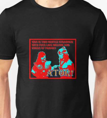 Ator the Invincible!  bright for dark backgrounds T-Shirt