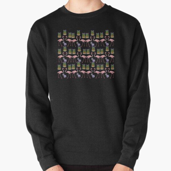 Menagerie. Alligator, llama and flamingo Pullover Sweatshirt