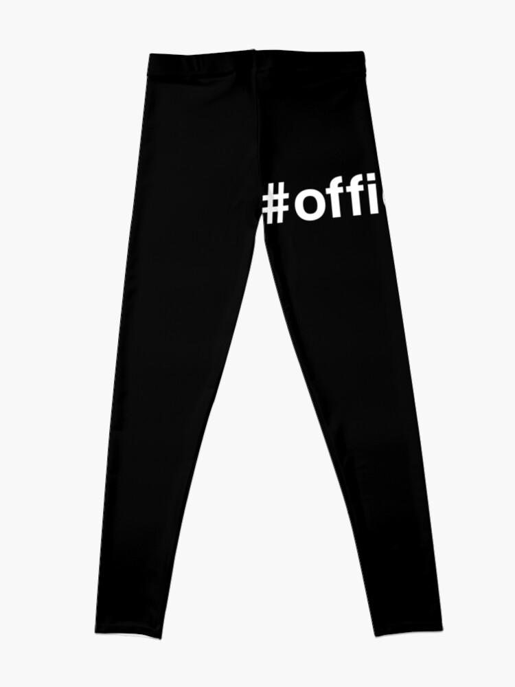 Alternate view of Officiant Hashtag #officiant Novelty Gift Leggings