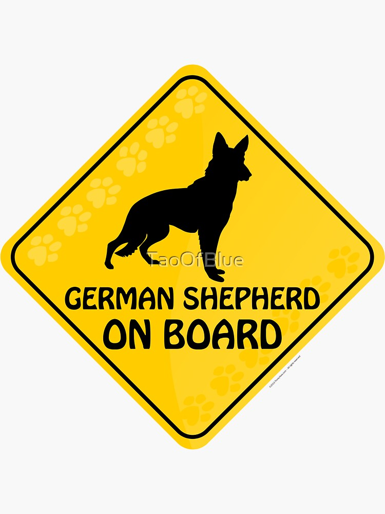 German Shepherd On Board by TaoOfBlue