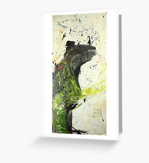 Bear tries but his hands tell lies Greeting Card
