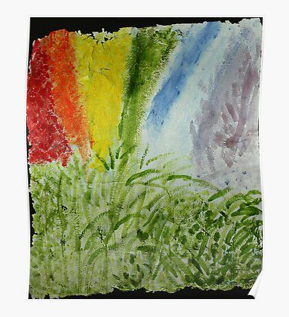 Genesis Laurel Rainbow Poster