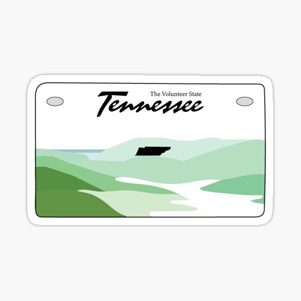 Tennessee license plate Sticker