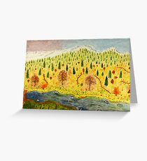 Mountain Landscape Greeting Card
