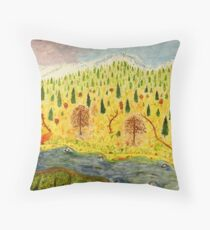 Mountain Landscape Throw Pillow