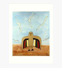 Dancing Robot  Bird Art Print