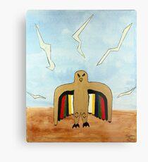 Dancing Robot  Bird Metal Print