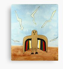 Dancing Robot  Bird Canvas Print