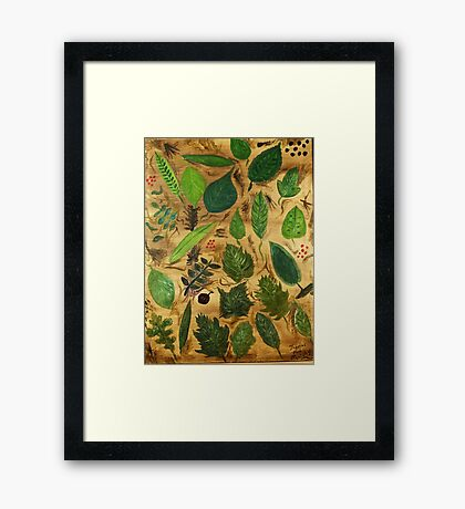 Wisconsin Leaves Framed Print