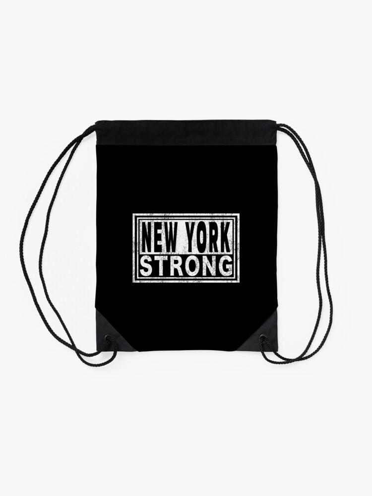 Alternate view of New York Strong | Midtown Manhattan WTC. Drawstring Bag