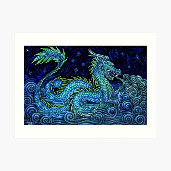 Chinese Azure Dragon Art Print