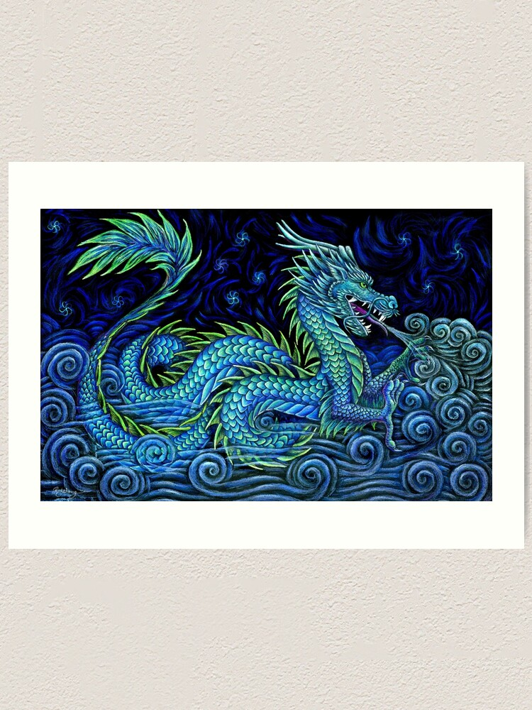 Alternate view of Chinese Azure Dragon Art Print