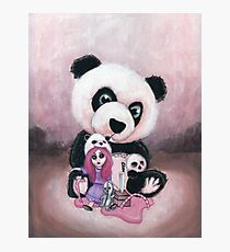 Candie and Panda Photographic Print