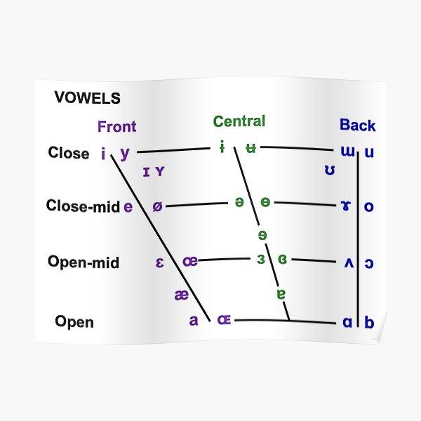 Vowel Quadrilateral Poster